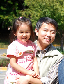 Dr. Zhang and his daugther
